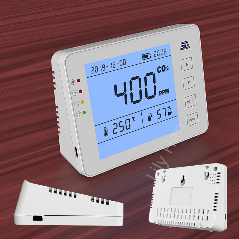 0-5000ppm High Precision CO2 Meter Monitor 3 in 1 Desktop Carbon Dioxide Datalogger Gas Detector