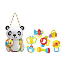 infant safe baby teeth toys rattle in cartoon bottle