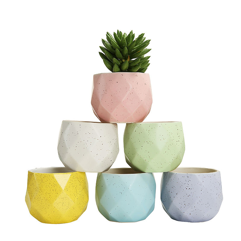 Wholesale Plant Pots For Table Ceramic Flower Succulent Pot Mini Ceramic Planter Set