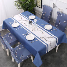 Wholesale Polyester Rectangle Tablecloth, Stain Resistant and Spillproof Kitchen Washable Fabric Table Cloth, China Supplier