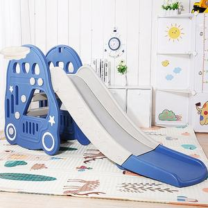 New kids plastic children slide baby car style toy
