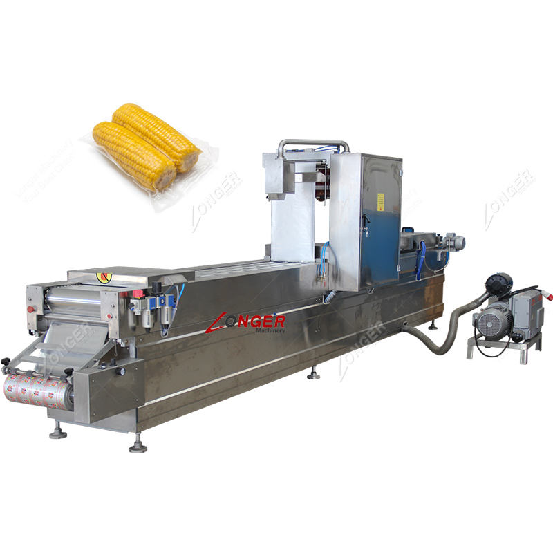 Full Automatic Sweet Corn Cob Thermoforming Vacuum Packing Machine