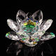 Lotus Crystal Glass Home Decoration Paperweight Ornament Feng Shui Flower Decor Collection Adornment