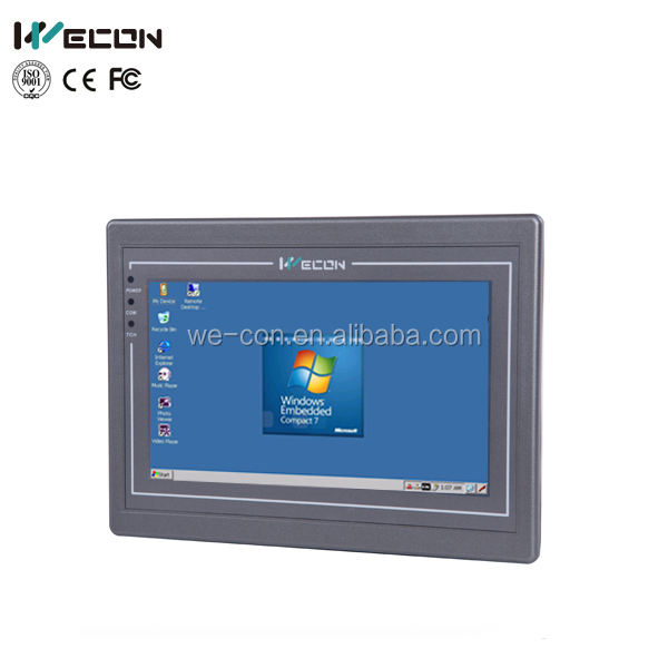Wecon 7 inch hmi advanced industrial touch screen panel pc support WINCE,LINUX system