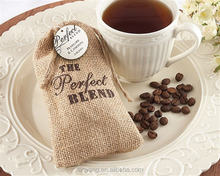 The Perfect Blend Burlap Bags Wedding Favor Bags Boxes Coffee Favors