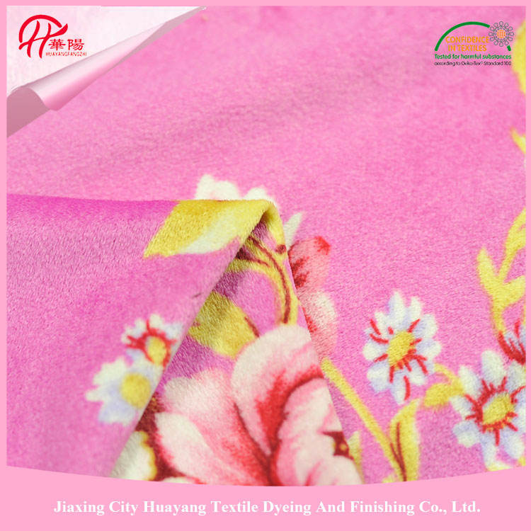 100% Polyester pig print fleece fabric