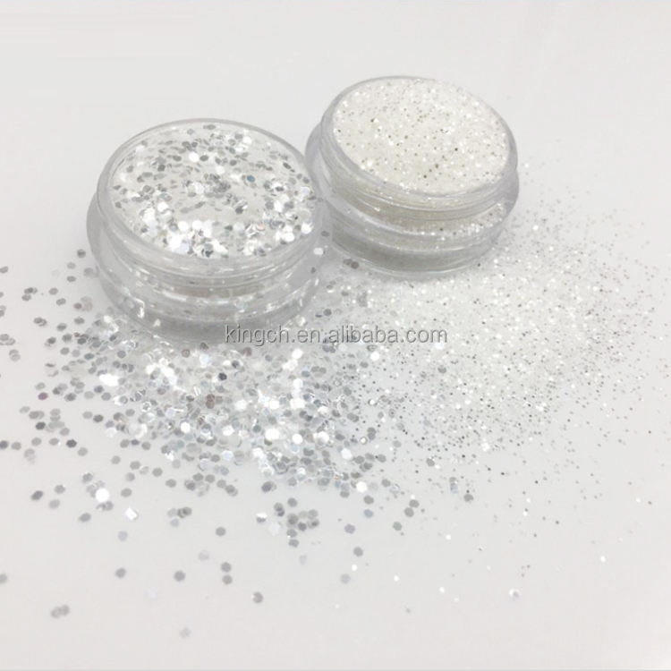 PET Hexagon Bulk craft glitter and crystal glitter for Craft&Nail Art