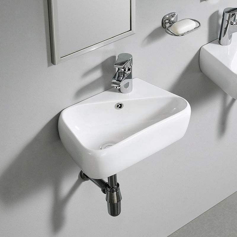 Sanitary Ware Wall Hung Small Corner Ceramic Wash Basin