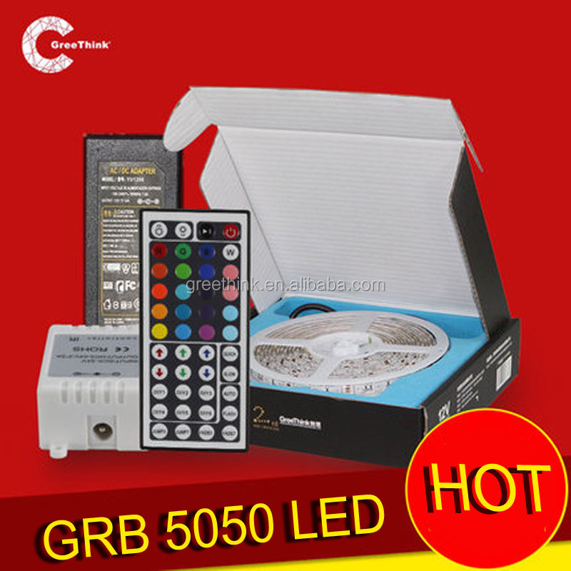 Colorful 12V RGB 5050 IP65 Ir Remote Waterproof light led strip rgb