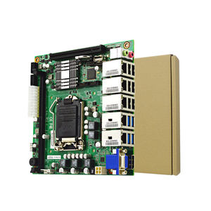 Made in china Mini-ITX embedded 4 ethernet ports Motherboard with Intel HD Graphics 630 support DDR4