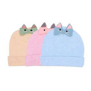 Winter cute cotton beanie knit new born baby hat baby cap