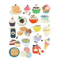 Shenzhen Manufacturer Sweet Kids Photo Stickers Custom Cupcake Stickers Lovely Stickers