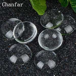 25mm Flat Dome Round Transparent Clear Glass Cabochon