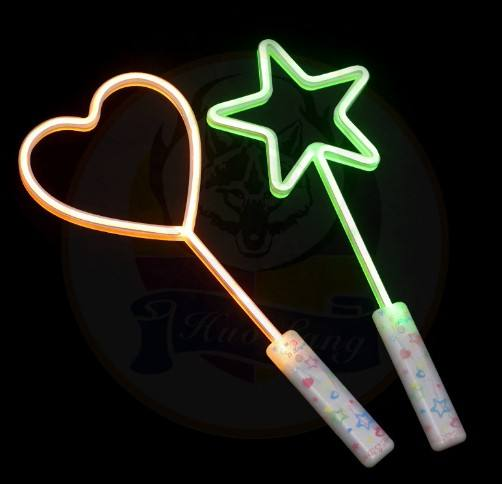 LED Glow Stick Rose Star Heart Shaped Luminous Wand Bar Concert Party Particle Flashing Sticks