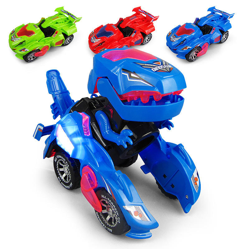 Universal B O Dinosaur Transform car toy with light music