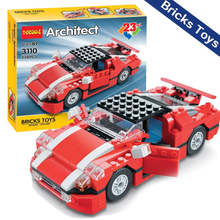 2018 decool 3110 education toy Christmas gift items DIY super sports block car toys for children brick building