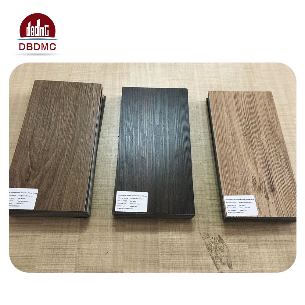 pvc/vinyl wood texture flooring tiles for modern office building