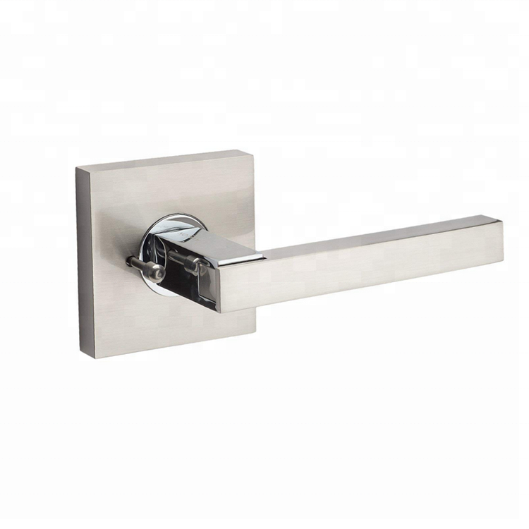 Modern Door Lever Handle Knob Sets (Privacy/Passage) - Satin Nickel