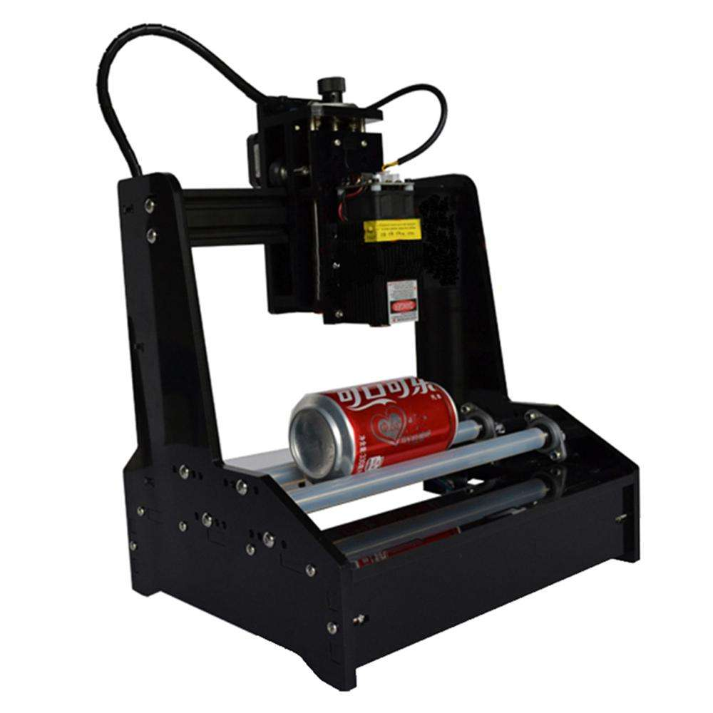 Tuopuke DIY Rotation Laser Engraving Machine Useful for Dog Tags Mugs Bottles Logo Printer Working on Cambered Material