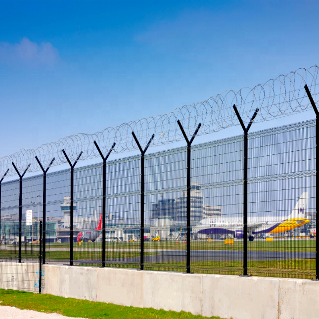 airport fencing Welded Wire Mesh Fence / Price Rigid Mesh Fence