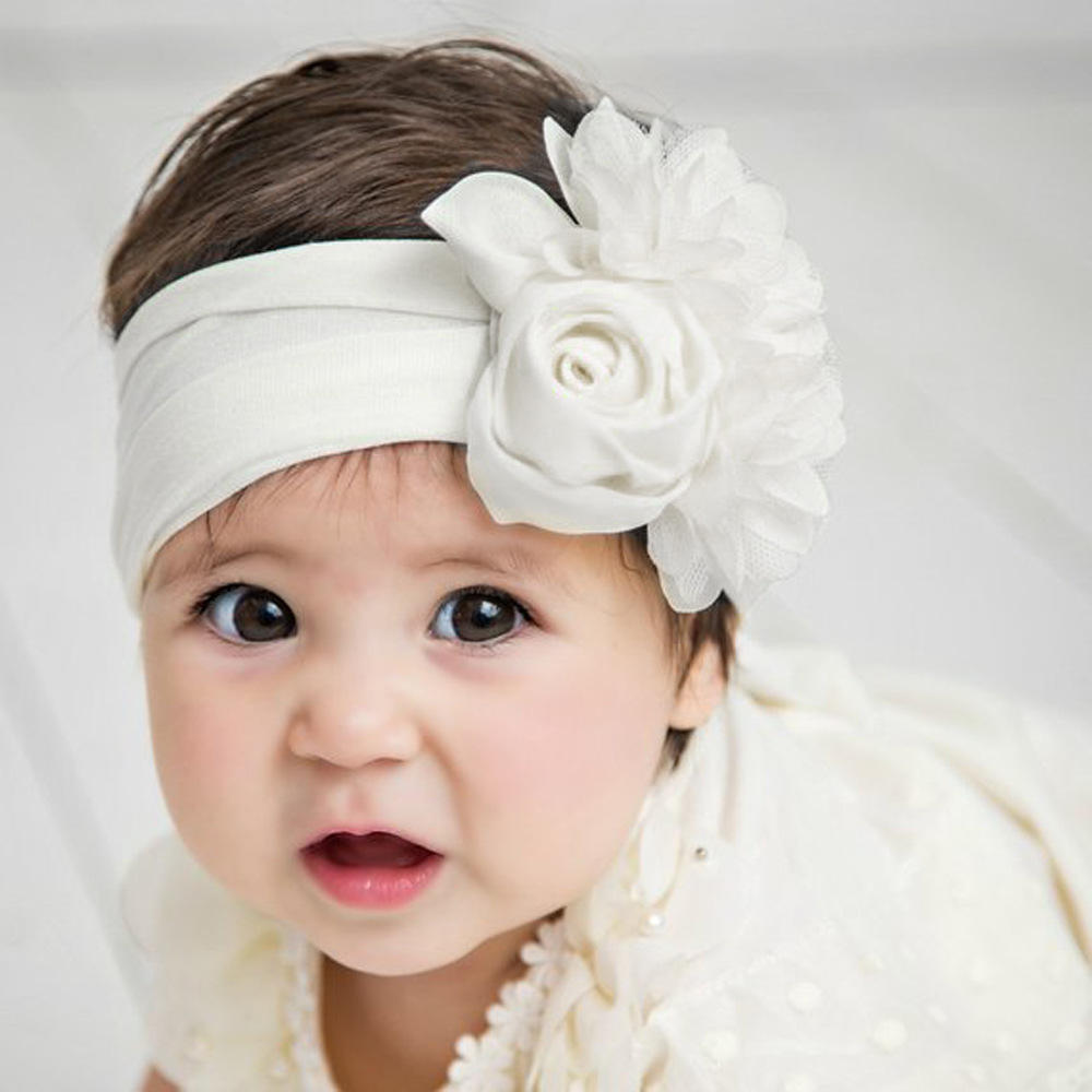 3pcs//set Baby Headband Coloful Big Bow Knot Traceless Nylon Children TOP