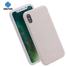 360 case liquid silicone for iphone for apple phone X case designs