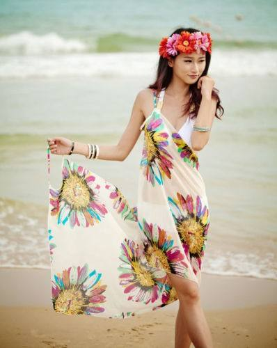 Fashion cover up beach wrap multi wrap dress