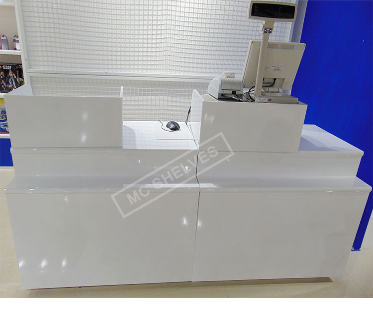2019 miniso style low price cash counter table,jewellery shop cash counter design,clothes shop cash counter design