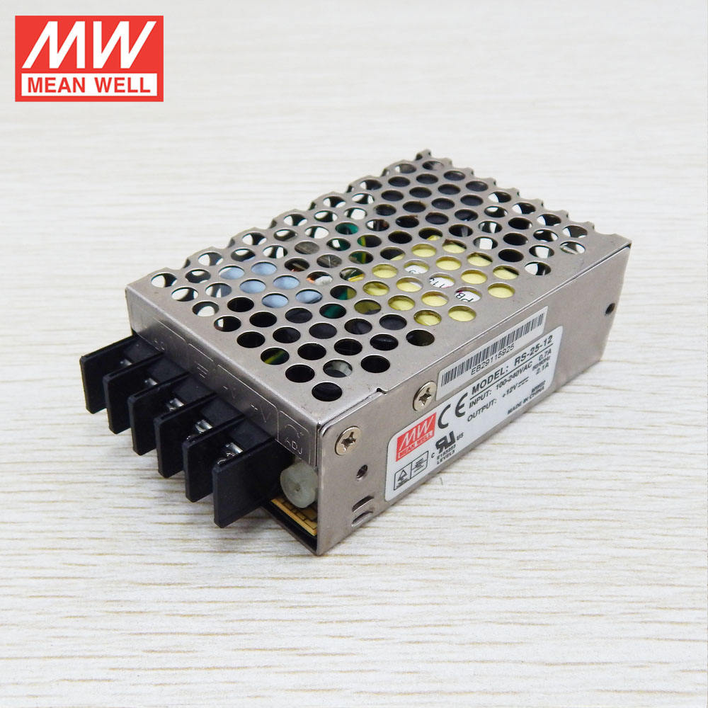 15W ถึง 150W MEANWELL ฿ Series AC/DC 24VDC 1A UL CE RS-25-24