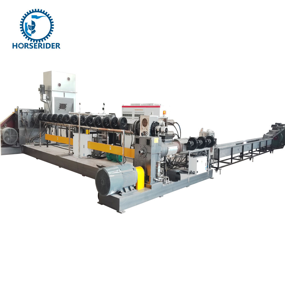 High Output Plastic granulating line/PE PP pellets machine/waste film bag pelletizer
