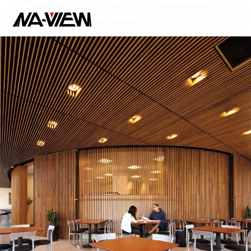 Fashion Aluminum Restaurant Strip Suspended False Ceiling Designs