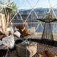 Pop Up Small Geodesic Dome Cafe Restaurant Greenhouse for Sale