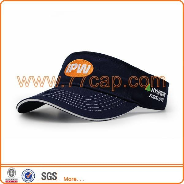 Adult Cotton Sports Visor Cap Visor Hat