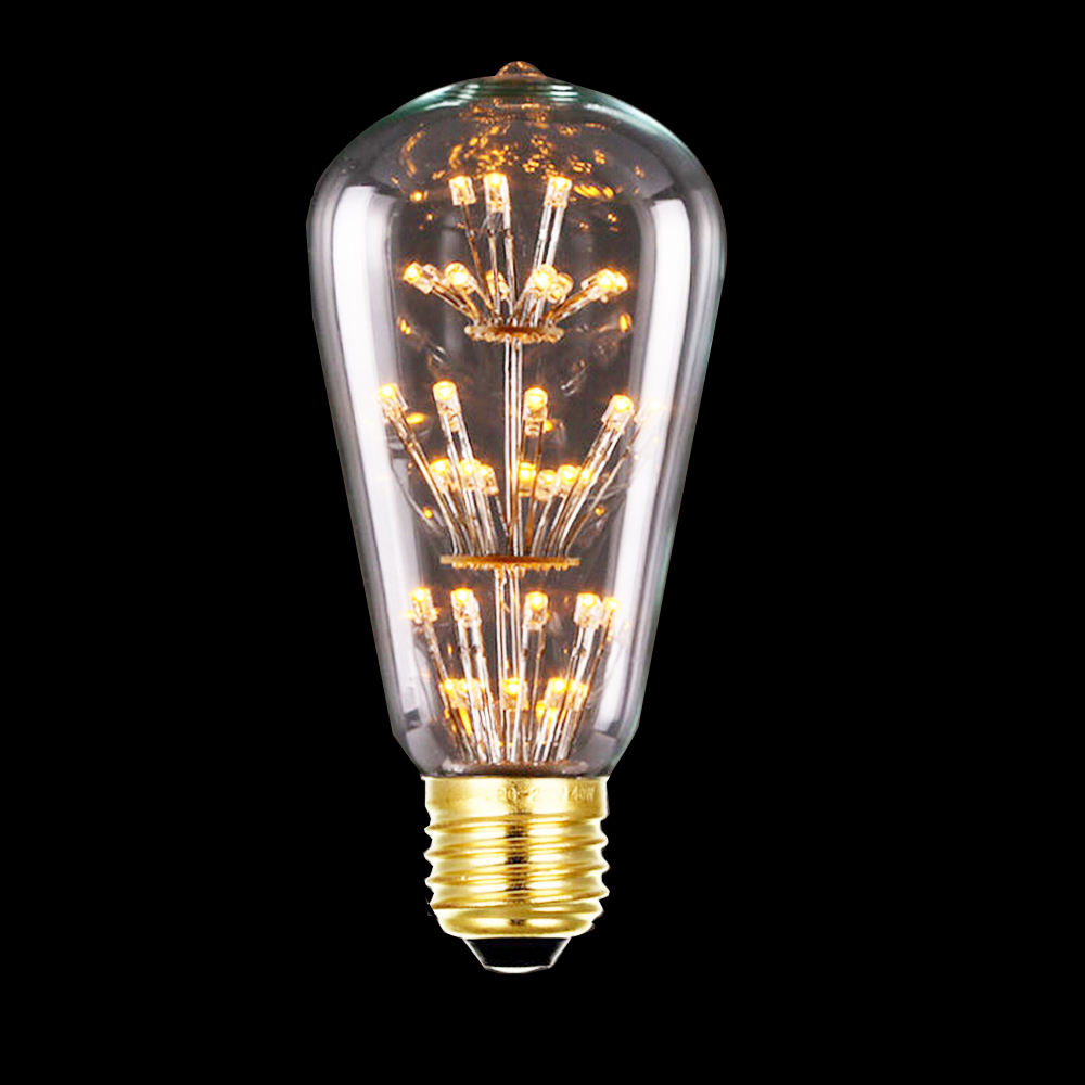 ST64 <span class=keywords><strong>Antieke</strong></span> Edison <span class=keywords><strong>Lamp</strong></span> 5W 6W Dimbare Zachte Led Filament 220V/240V E27 Base Spiraal ontwerp Gloeilamp