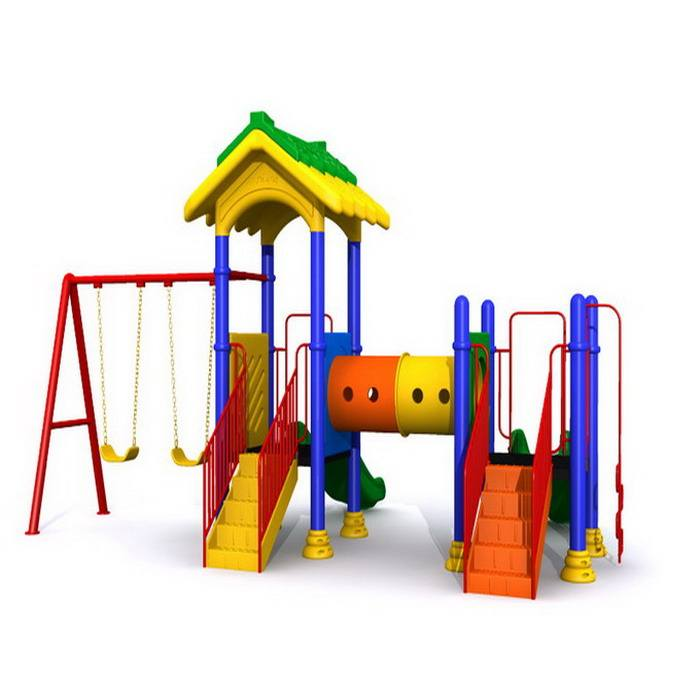 Favourite colorful Tree house series outdoor play toy slide furniture playground