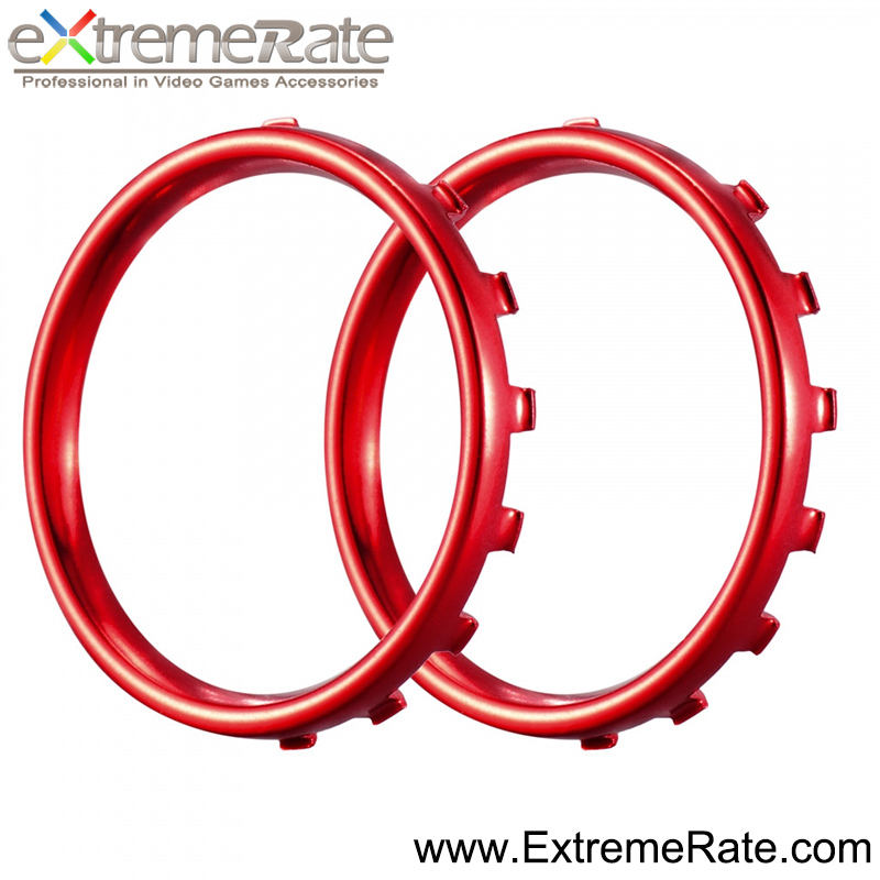 Matte UV Chrom Rot <span class=keywords><strong>2</strong></span> in 1 set Ring Tasten Für <span class=keywords><strong>XBox</strong></span> Eine Elite Controller