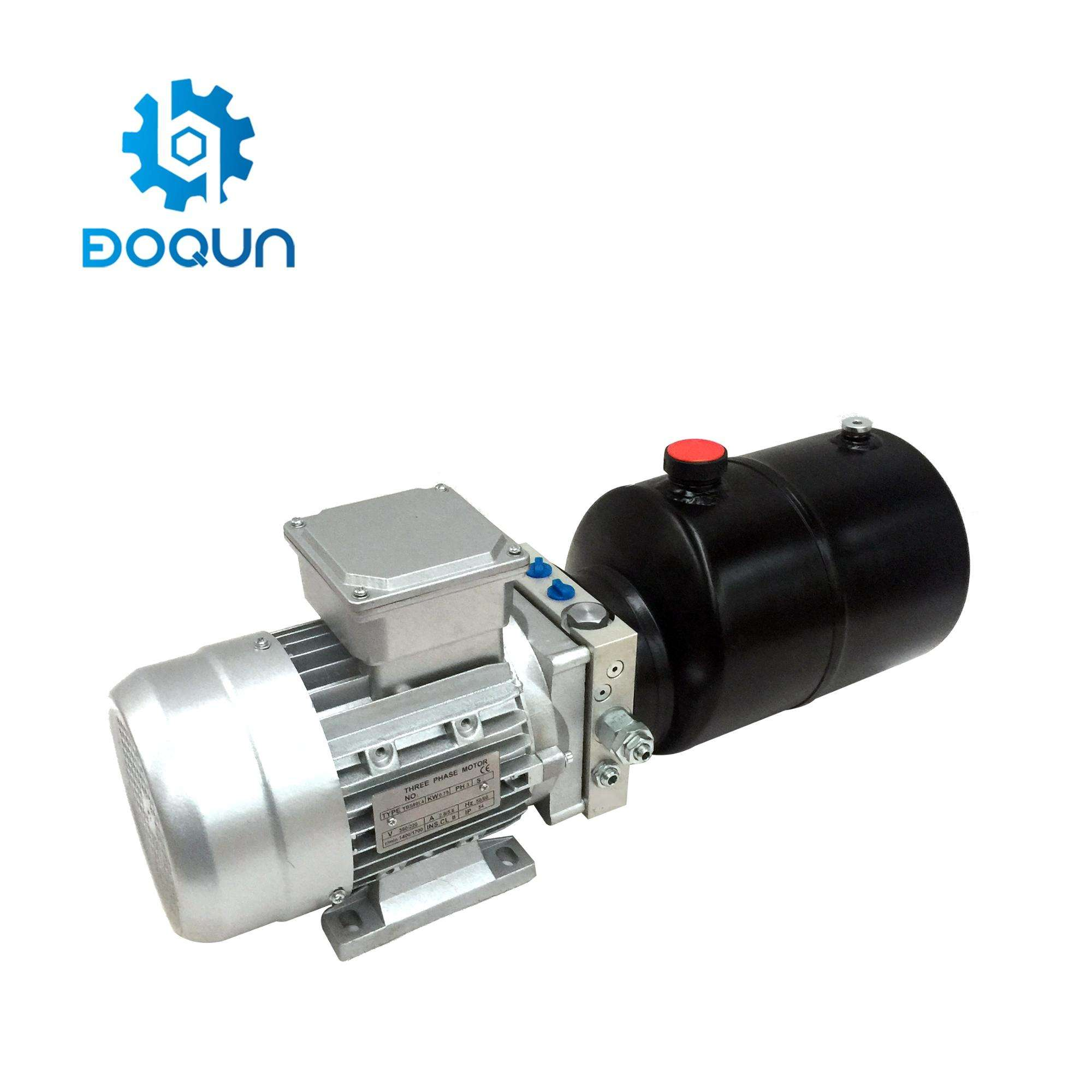 DD01A Boqun 380 V AC 5 Quart Metal Reservoir Double Acting Electric Hydraulic Power Unit สำหรับ Dock Leveler