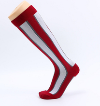 FL00-370 Unisex Colorful Rainbow Bamboo Seamless Compression Knee Sport Walking Socks