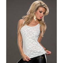 Clearance Sale in stock lace white women shirt