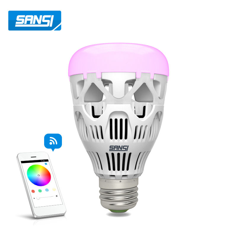 Alexa google homekit colourful smart led light bulb speaker