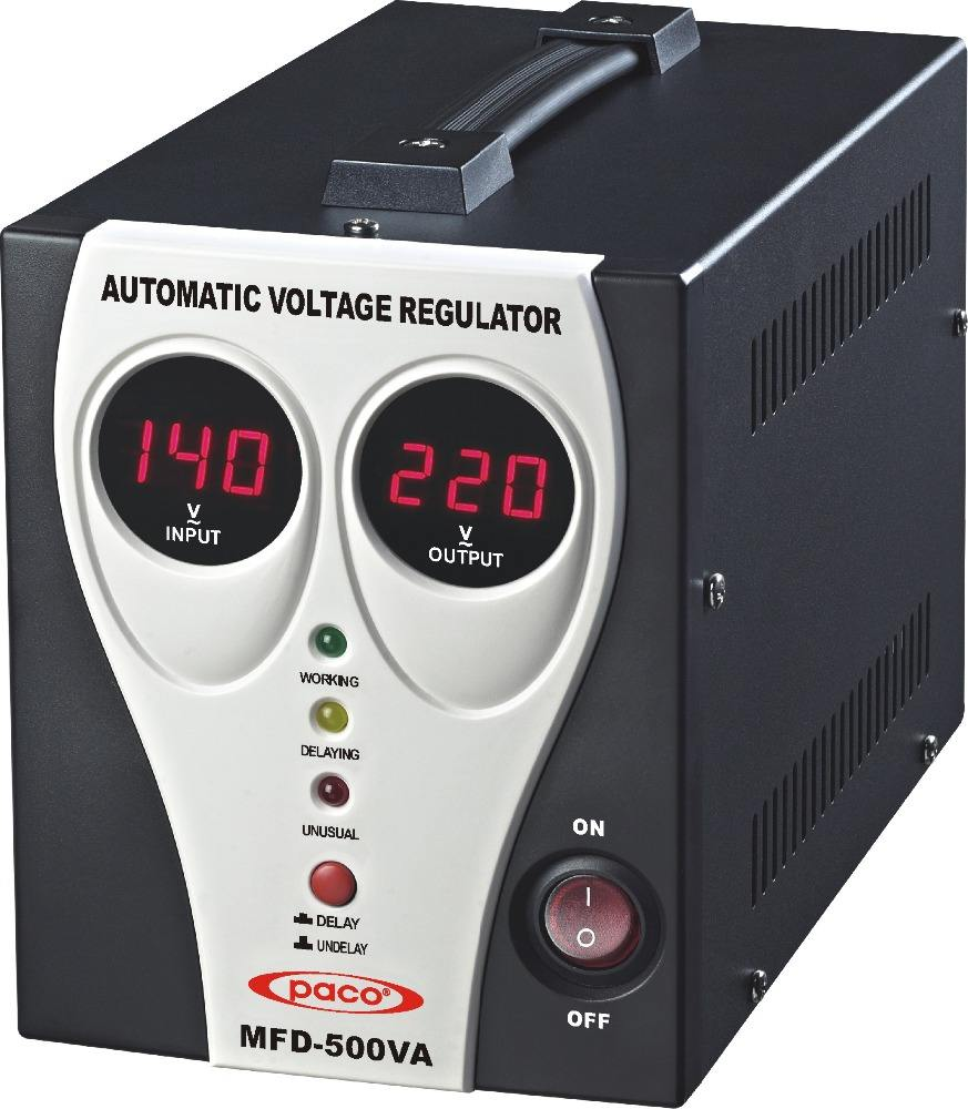 Digital Display 500VA Automatic Voltage Regulator/home use Stabilizer with Microprocessor Control PACO