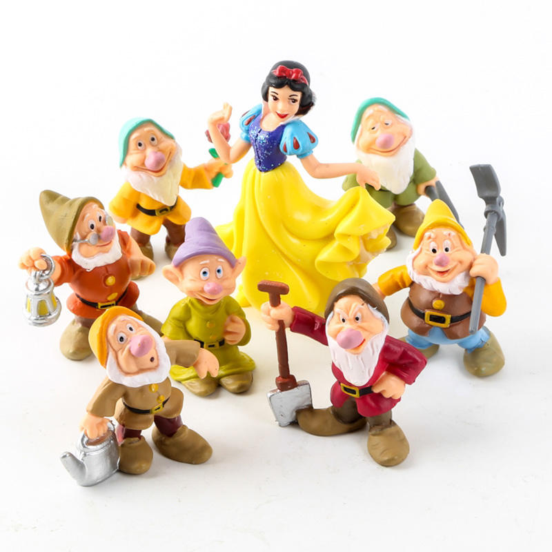 2019 Newest 8PCS/Lot Princess Snow White and the Seven Dwarfs Figure Toy for Kids