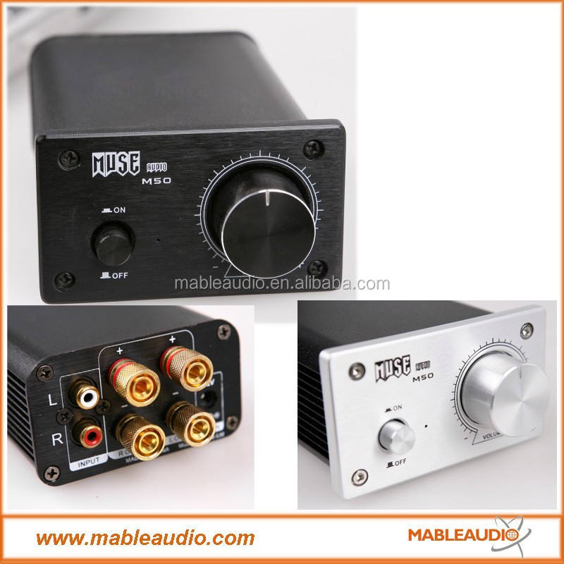 MUSE M50 EX TPA3123 T Amp 2x50W Mini Amplifier with Power Supply
