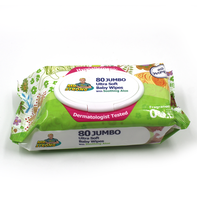 BSCI Audited Super Soft Fabric Baby Wipes with Mild Formula