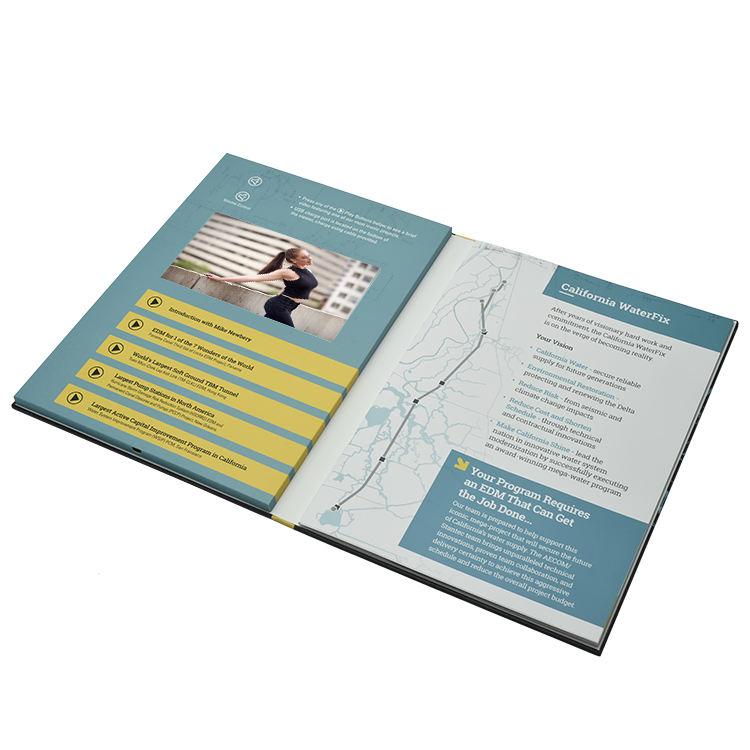 Garanzia di qualità <span class=keywords><strong>Video</strong></span> Marketing Brochure Schermo Led Da 4.3 Pollici Foglio di Oro <span class=keywords><strong>Video</strong></span> Brochure Per La Pubblicità