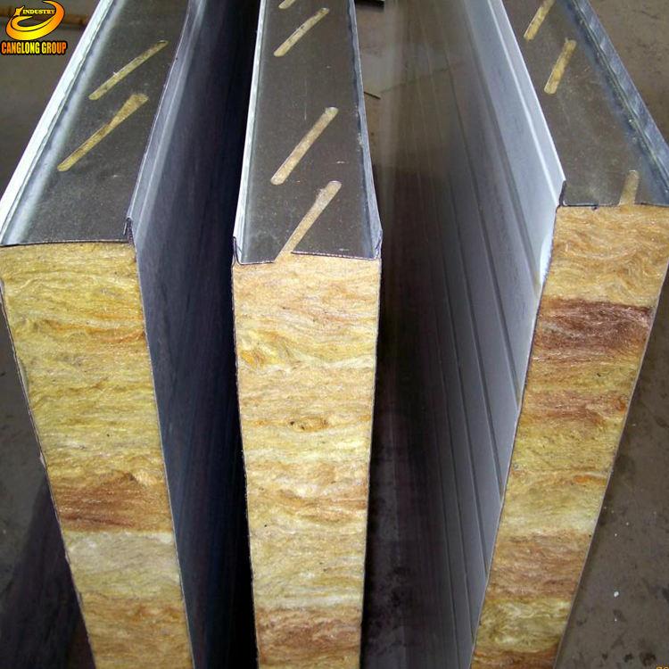 Peso ligero <span class=keywords><strong>de</strong></span> lana <span class=keywords><strong>de</strong></span> roca panel <span class=keywords><strong>sándwich</strong></span> para la casa prefabricada pared