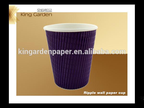 ondulation de tasse de papier peint 8oz 12oz 16oz