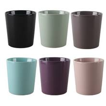 Good price round black glazed ceramic planter flower pot for wholesale