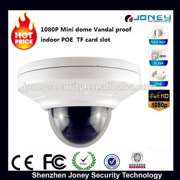 mini vandalproof poe fácil instalar p2p câmera ip com slot para cartão tf