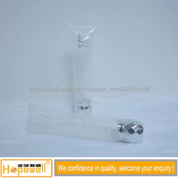 Biyobozunur eko- dostu plastik EOS dudak kremi tüpü odaklı Flip top kapağı